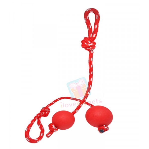 Happy Pet Solid Rubber Ball with Rope La...