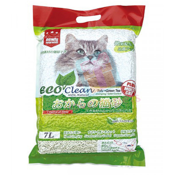 Eco Clean Tofu Cat Litter, 7L (Biodegrad...