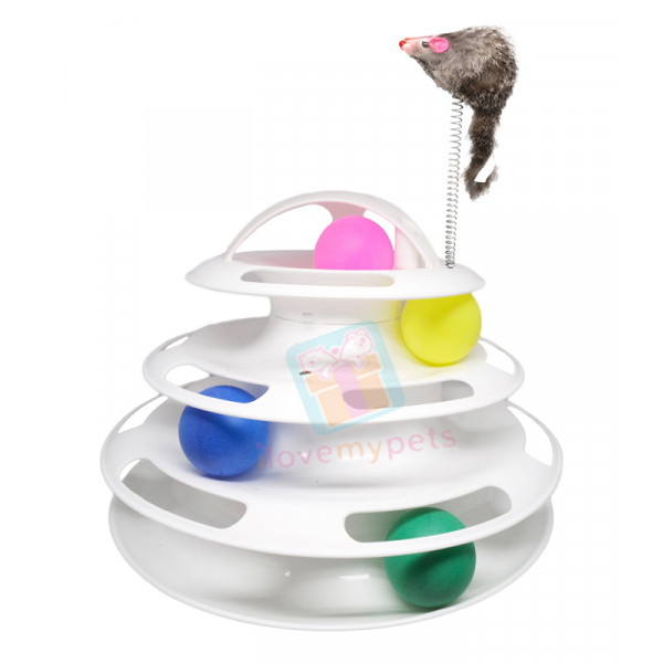 Carno Cat Tower w/ Springy Springy Mouse