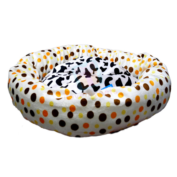 Happy Pets Soft Plush Round Cat Bed