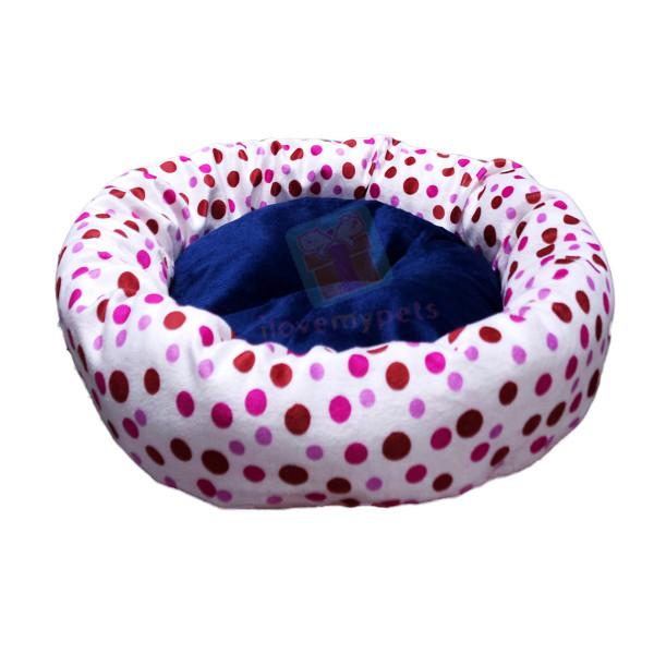 Happy Pets Soft Plush Round Cat Bed