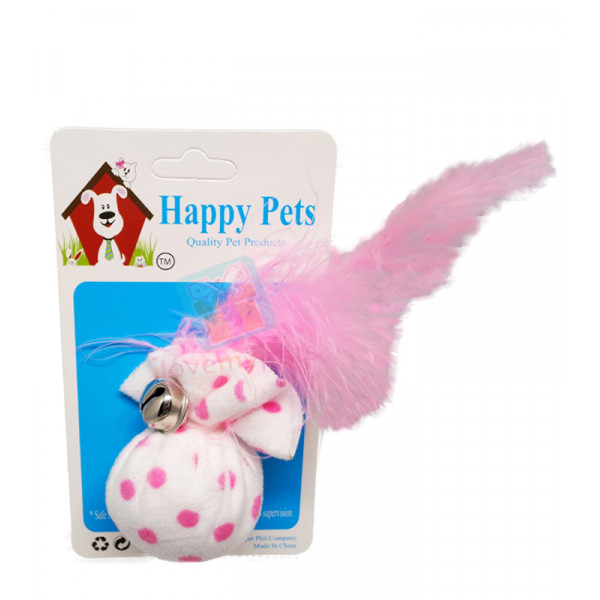 Happy Pets Catnip Pouch w/ Feather &...