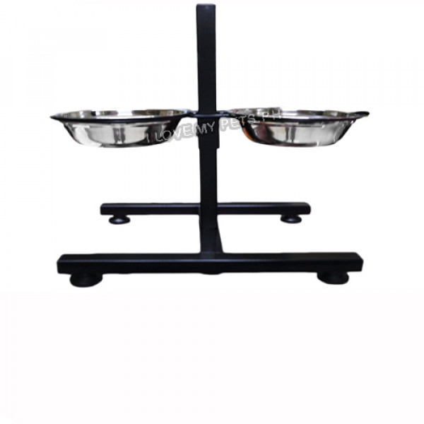 Adjustable Height Twin Bowl for Food &am...