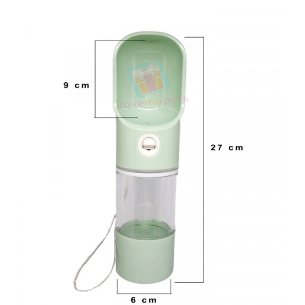 Carno Portable Dog Water Bottle 200 ml (Leak-proof)