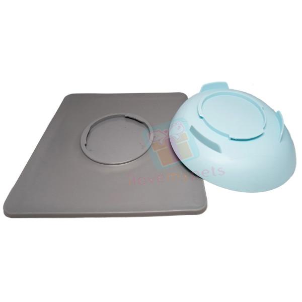 Carno Pet Food Bowl w/ Silicone Non-Skid Mat