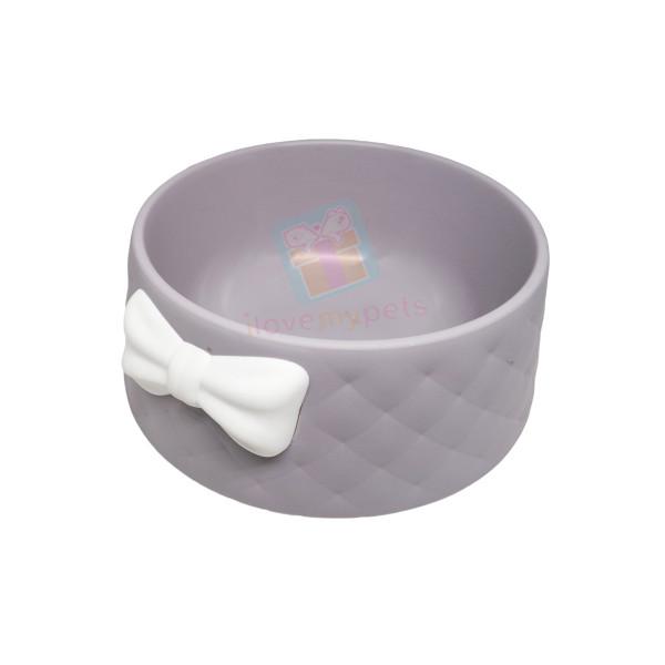 Happy Pets Plastic Bowl w/ Ribbon in pastel color