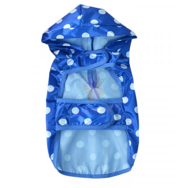 Pet Rain Coat W/ Hood (Blue)