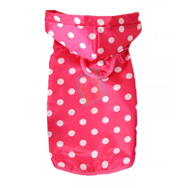 Pet Rain Coat W/ Hood (Pink)