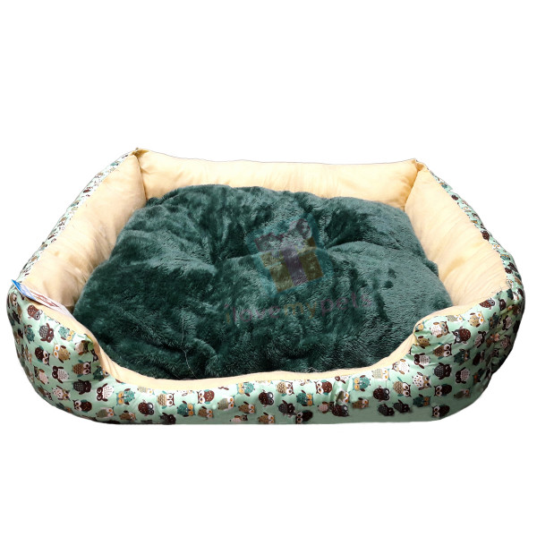 Happy Pets Cotton Bed w/ Removable Soft Cushion (Medium)