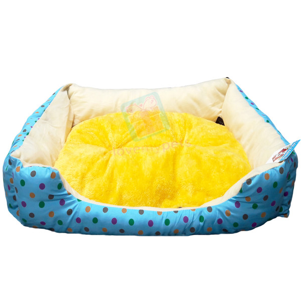 Happy Pets Cotton Bed w/ Removable Soft Cushion (Small)