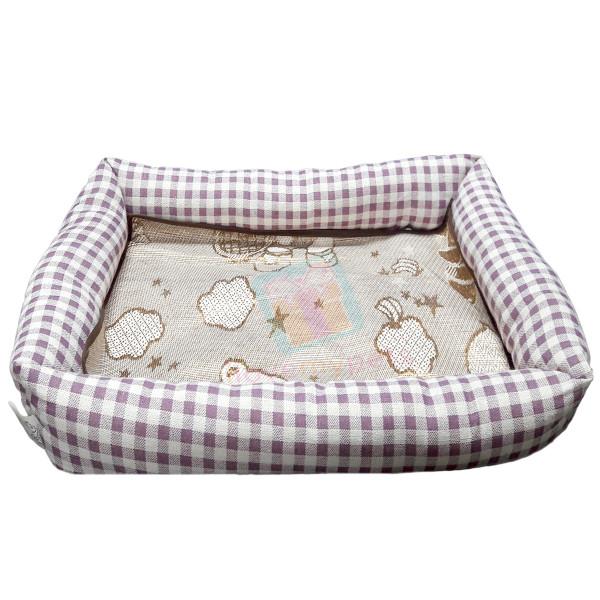 Happy Pets Rectangle Pet Bed w/ Detachable Natural Cooling Mat (XL)