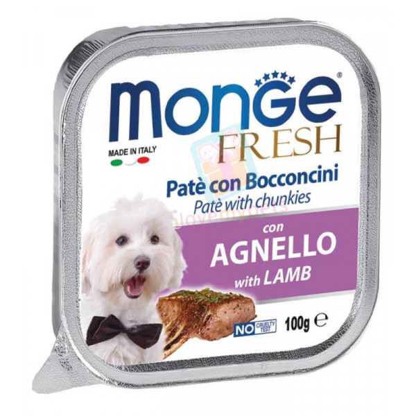 Monge Fresh Dog Food, Cod Lamb, 100 gram...