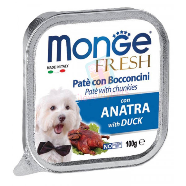 Monge Fresh Dog Food, Duck, 100 grams