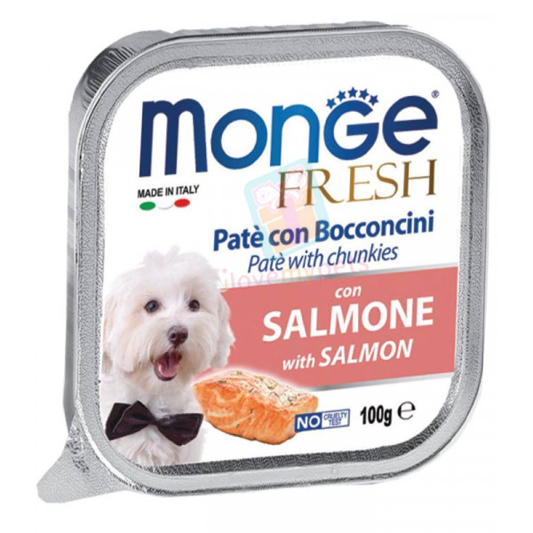 Monge Fresh Dog Food, Salmon, 100 grams