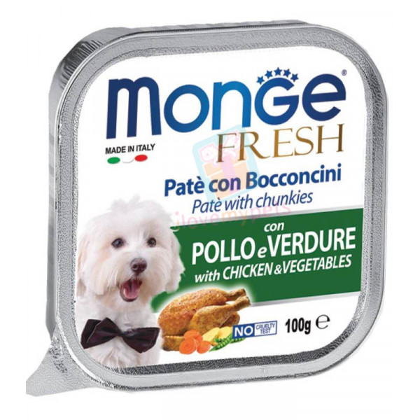 Monge Fresh Dog Food, Chicken & Vege...