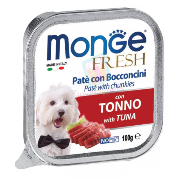 Monge Fresh Dog Food, Cod Tuna, 100 gram...