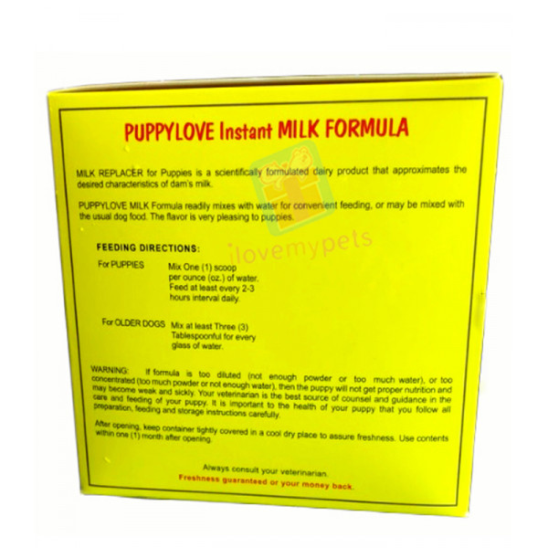 Puppy Love Milk Formulas for Puppies (300 grams)