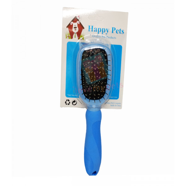 Happy Pets Double Sided Brush w/ Rubber Handle