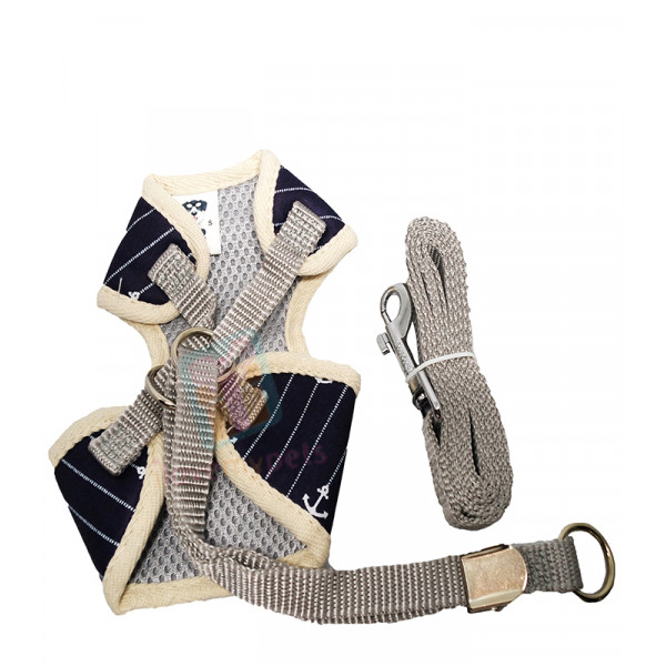 Cute Cotton Cloth Harness with Bow Tie