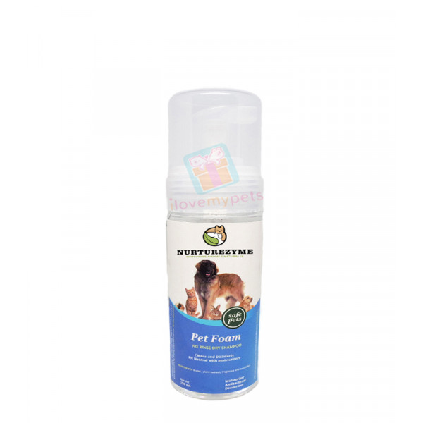 Nurturezyme Pet Dry Clean Foam Shampoo, ...