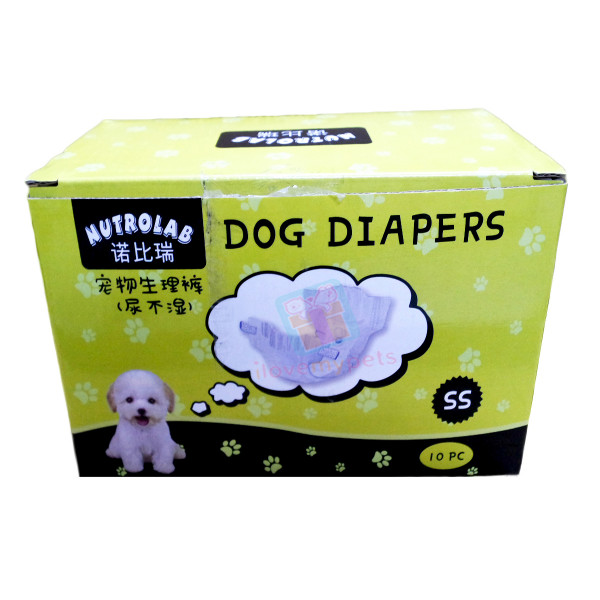 Nutrolab Scented Dog Diaper SS 10's