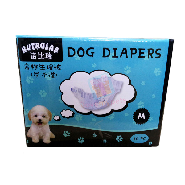 Nutrolab Scented Dog Diaper M 10's