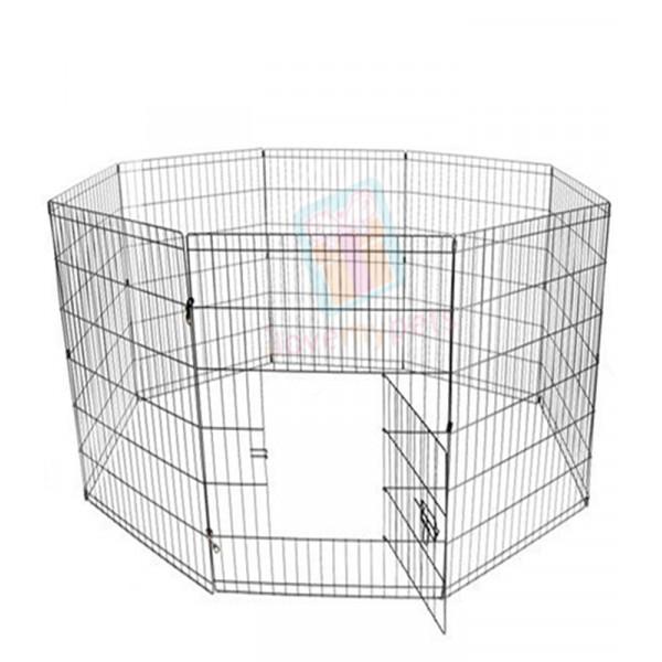 "8 panel Exercise pen PL 3.5 (107cmX61cmX8) or (42""x24""x8)  Panel, Color (Black)"