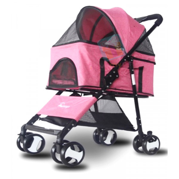 Dogoo Pet Stroller w/ Detachable Carrier