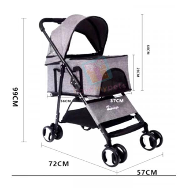 Dogoo Pet Stroller w/ Detachable Carrier