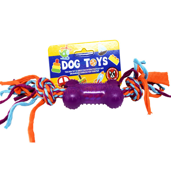 Colorful Cotton Braided Toy Bone