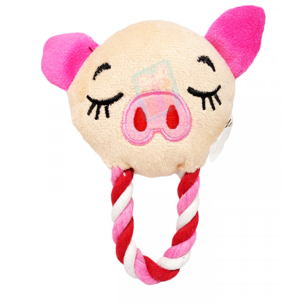 Character Tugger Toys w/ Squeaker,  Pepp...