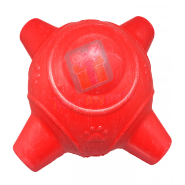 Carno Rubber Jack w/ Squeaker Dog Toy, Red (Toys for Big Dogs)