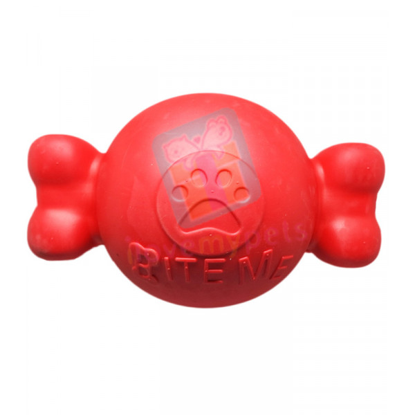 Carno Rubber Bouncy Bone Dog Toy w/ Sque...
