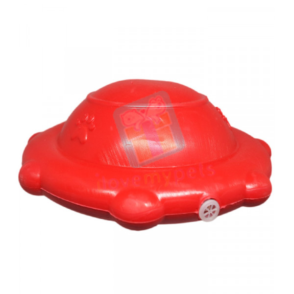 Carno Rubber Flyer w/ Squeaker, Red (Toy...