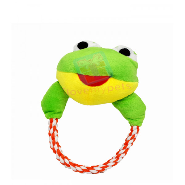 Happy Pets Plush Braided Tug Toy w/ Sque...
