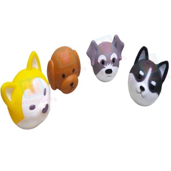 Happy Pets 3D Dog Shape Squeak