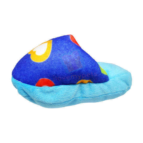 Happy Pets Plush Slipper Dog Toy w/ Sque...