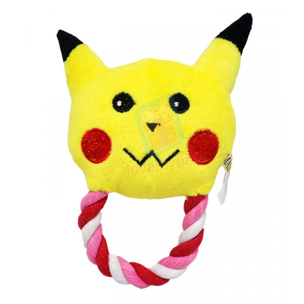 Character Tugger Toys w/ Squeaker,  Pika...