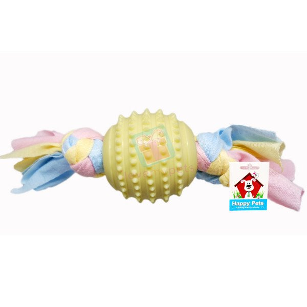 Happy Pets Teether w/ Gum Massager Tug T...