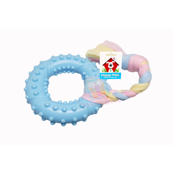 Happy Pet Teether Ring Tug Toy
