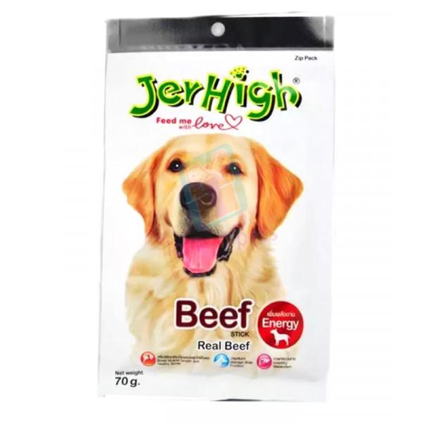 Jerhigh Dog Snack Beef Flavor, 70 grams