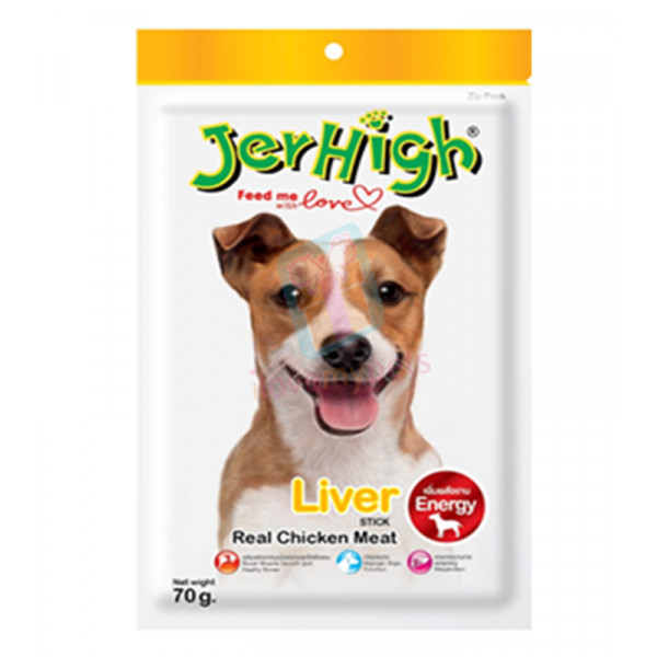 Jerhigh Dog Snack Liver Flavor, 70 grams