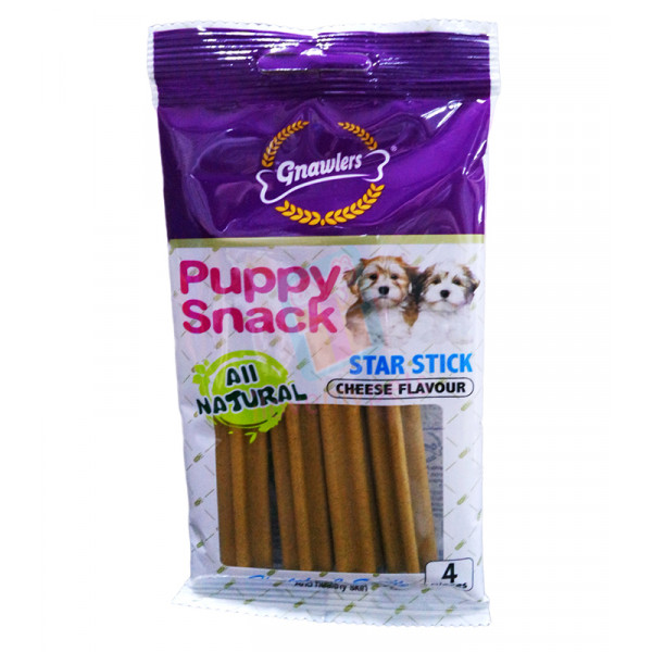 Gnawlers Puppy Snack, Star Stick, Cheese...
