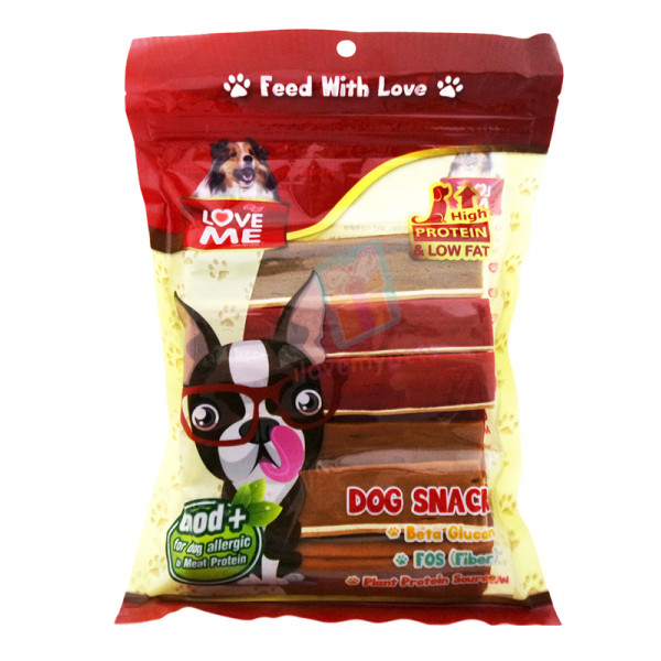 Love Me Soft Dog Snack (Strap) Made in Thailand (Best For Dogs Allergic to Meat Protein) Approx 50 pcs.