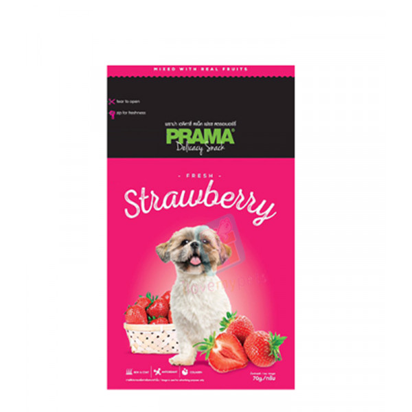 Prama Dog Treats, Strawberry 70g