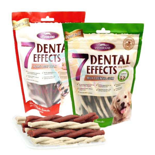 Vegebrand 7 Dental Effects Dog Treats Twist Sticks 160g