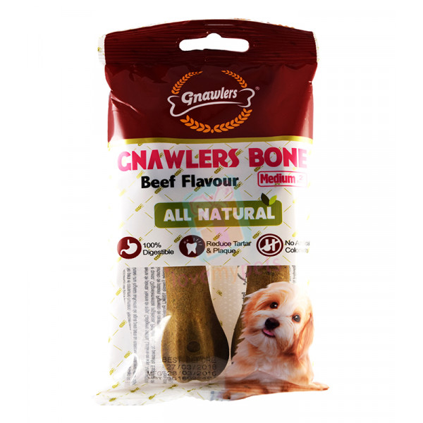 Gnawler Bone Beef  (2's) All natural