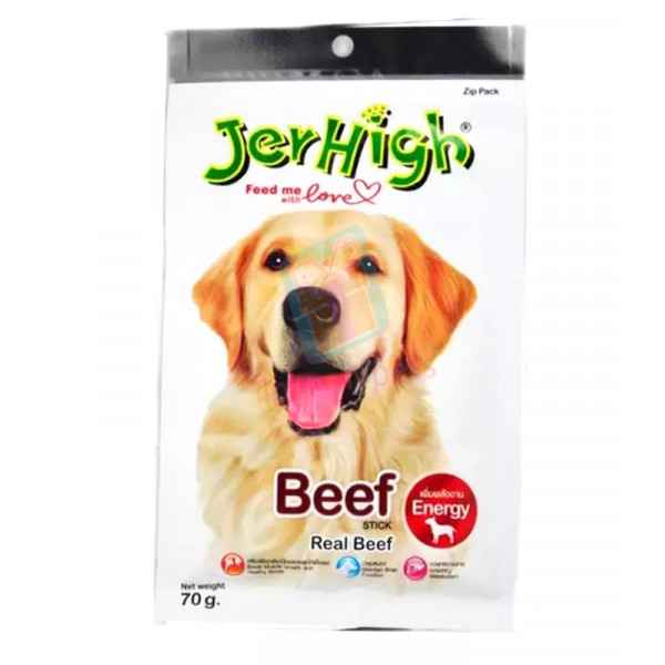 Jerhigh Dog Snack Beef Flavor, 70 grams