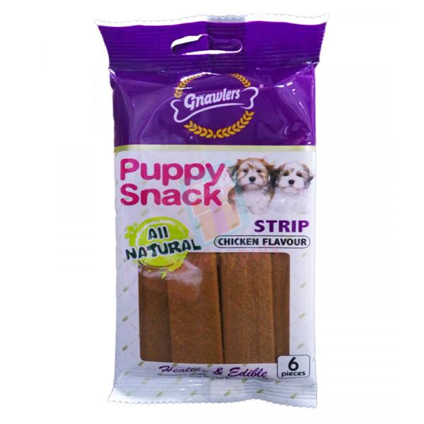 Gnawlers Puppy Snack, Strip, Chicken Fla...