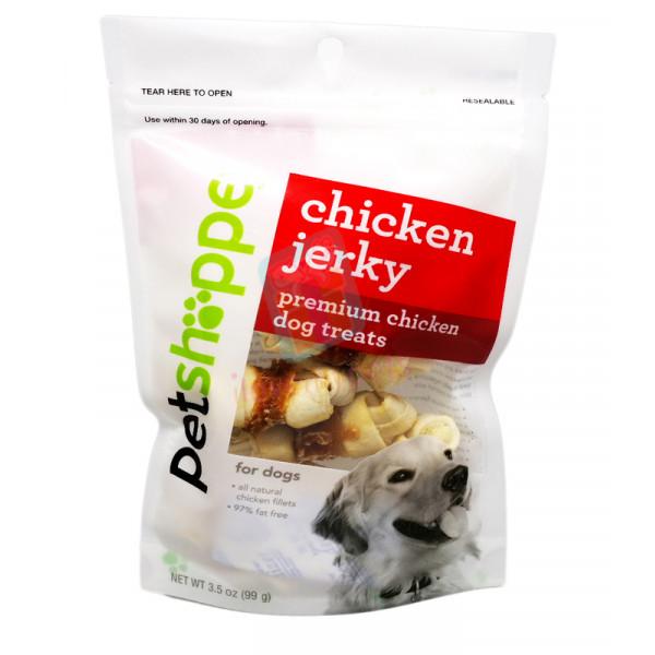 Petshoppe Chicken Jerky Knotted Bone 6's